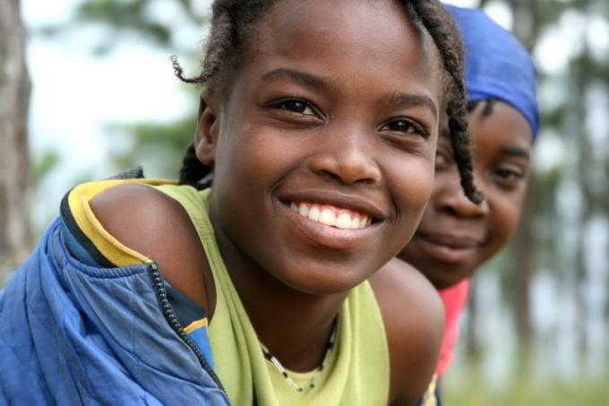 Sparkling eyes. Furcy, Haiti