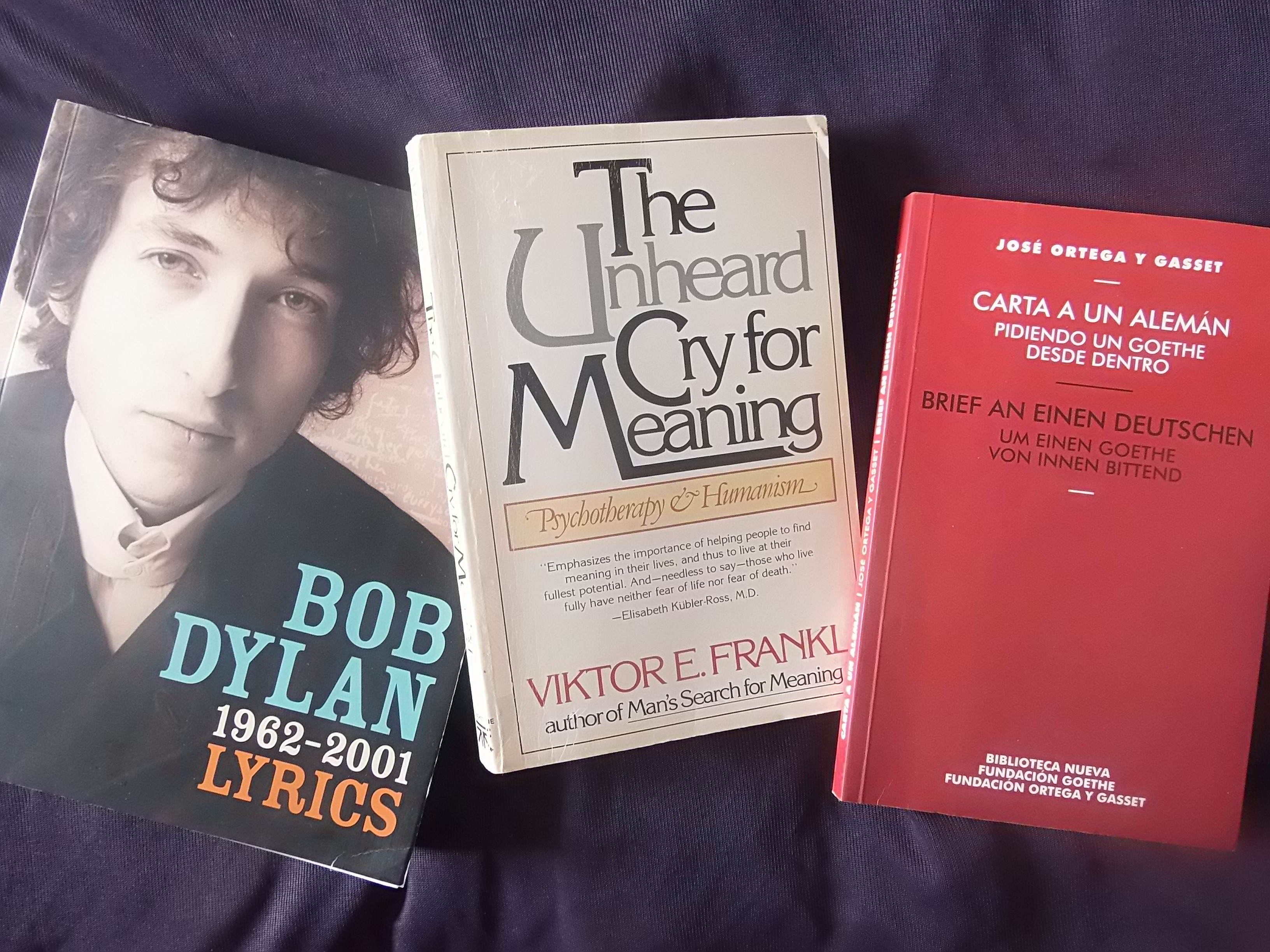 Quotes by Bob Dylan, Viktor Frankl & Ortega | Humano, creativamente humano
