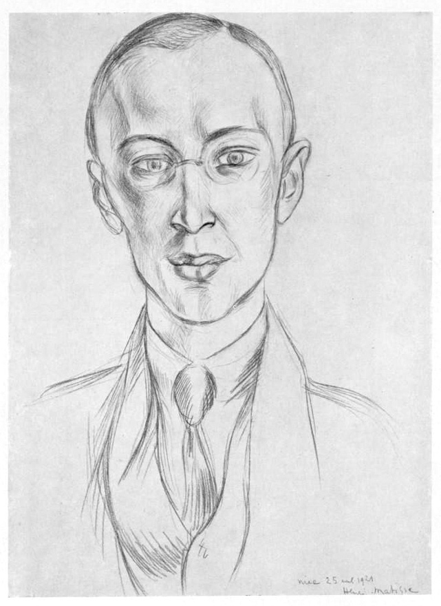 Prokofiev_as_drawn_by_Henri_Matisse_1921_-_Gallica